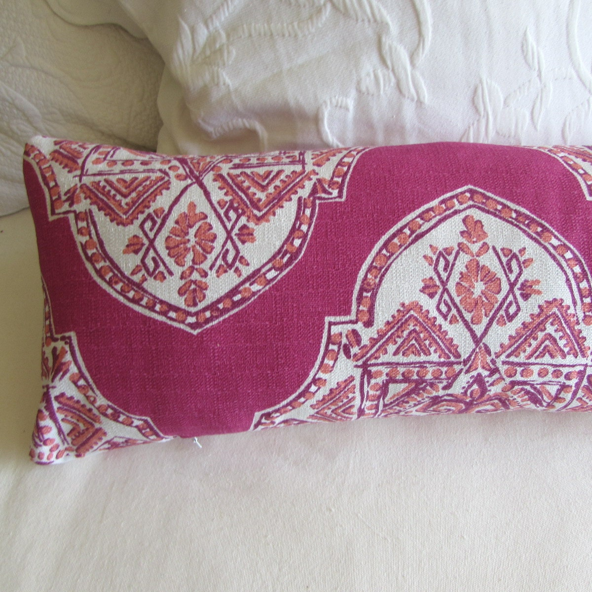 Extra Long Decorative Pillows : decorative bolster pillow 10x54 extra long in malta mulberry