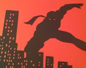 DIY Superhero NY skyline extra large series A