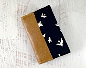 Black and White Bird Business Card Holder. Leather Card Wallet. Black and White Business Card Case. Credit Card Holder. Gift Card Holder