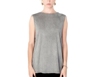 Gray Muscle Tee - Gray Sleeveless - Women's Muscle Tee - Men's Muscle Tee