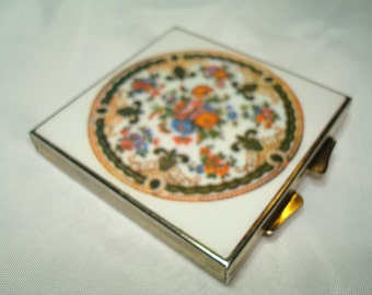 1970s Asian Themed Compact Mirror  .