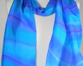 Turquoise Scarf , blue green scarf , caribbean waters scarf
