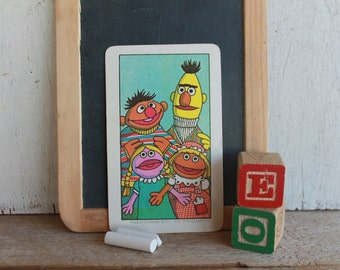Vintage Muppets Flash Card // 1978 Muppets // FOUR // Bert, Ernie, Betty Lou, Prairie Dawn