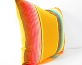 Yellow Aztec Pillow cover, Mexican Pillows, Tribal Pillows, Aztec Cushion, Pillows, Serape Pillow, Southwestern pillows, 20 inch