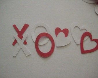 XOXO and Hearts Table Scatter or Confetti