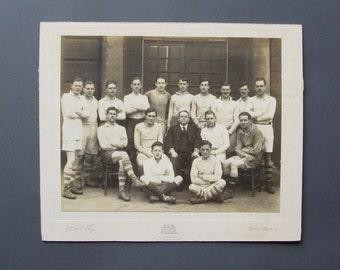 Vintage Soccer Photograph - Original Vintage School Photo - English Football Team Photo