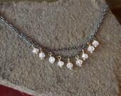 Mixed Metals Moonstone Necklace