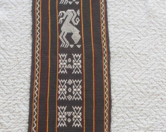 SALE Indonesian handwoven TAPESTRY ethnic tribal  animal weaving  home decor from MyGypsyCottage on Etsy