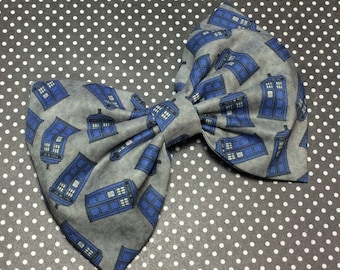 Doctor Who Tardis Fabric Bow 5.5 Inches