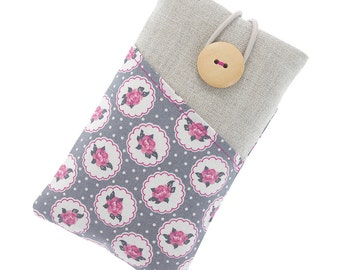 Fabric iPhone 6 case / iPhone 5 case / iPhone 4 / iPod sleeve / cell phone protector