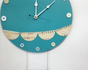 Custom Nursery Hot Air Balloon Wall Clock