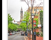 Old Town Alexandria VA Virginia - King Street - George Washington Masonic Memorial Northern Virginia  - Art Photography Prints by Dave Lynch