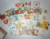 Large lot of Vintage Greeting Cards assorted