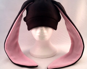 Custom black bunny rabbit hat long ears