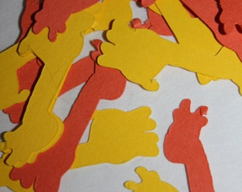 200 pieces Giraffe Die Cut Confetti Table Decor