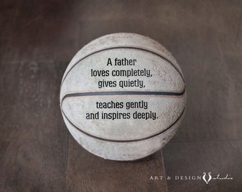 Father Gift, Sports Art, Basketball Art, Gift for Him, Father Quotes, Dad Quote, Sports Artwork, Father's Day Gift, Men Gifts, Husband Gifts