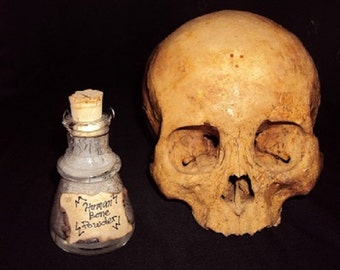 Genuine Human Bone Powder in Corked Bottle:Obtained legally and legal to own.