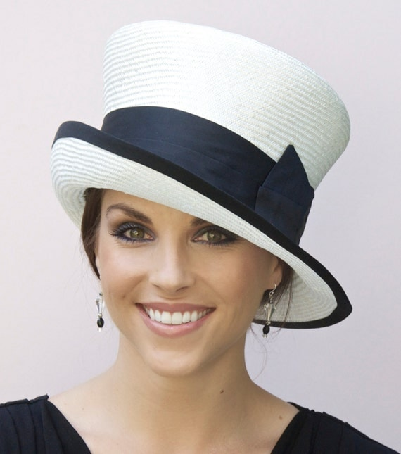 Wedding Hat, Church Hat, Black & White Hat. Derby Hat, Occasion Hat, Formal hat