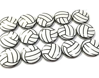 "Volleyball Magnet, 1"" Button Magnet, Volley, Volleyball Button, Volley Ball Party Favor, Volleyball Decor, Volleyball Theme, Locker Decor"