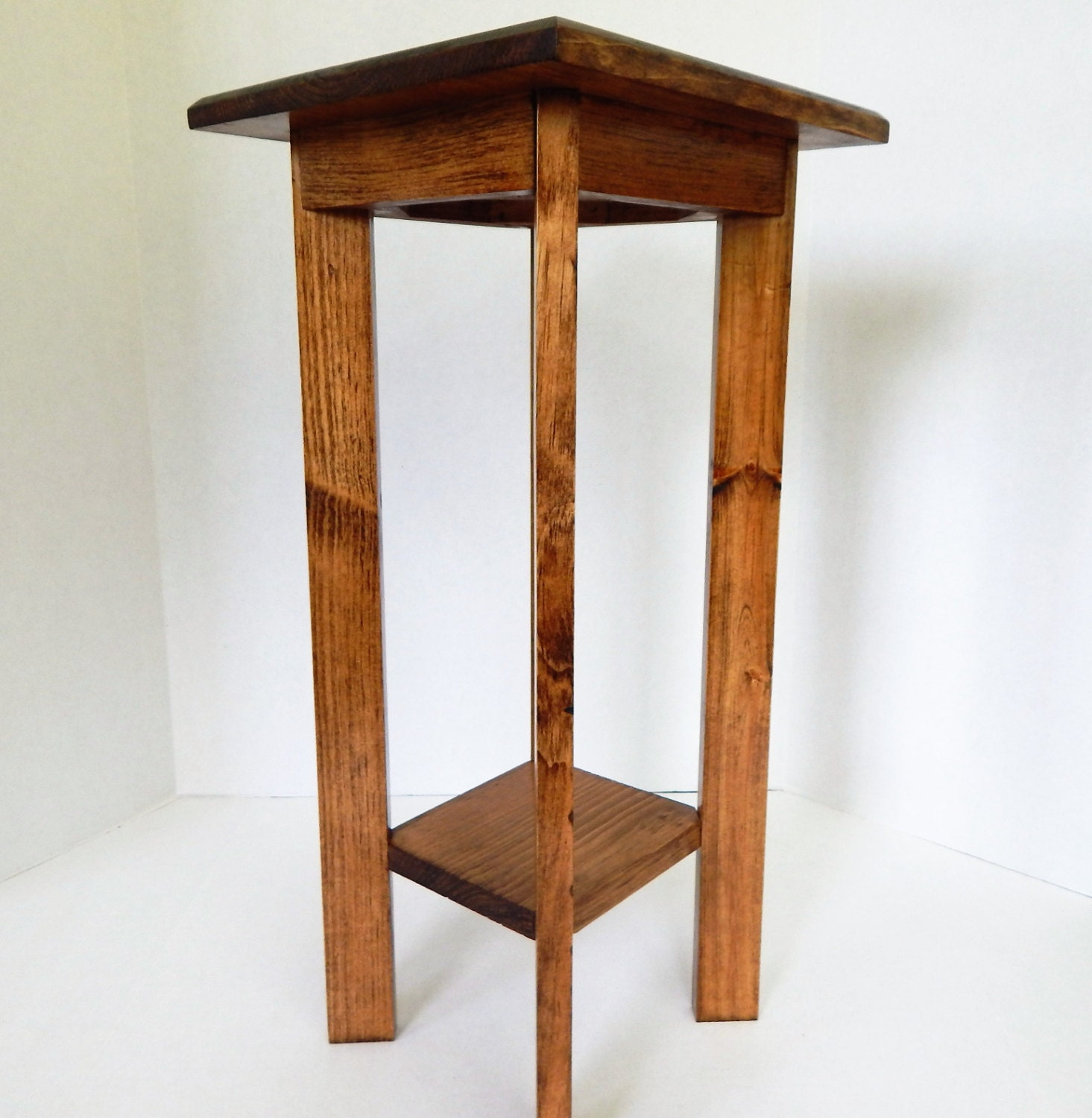 Foyer Plant Stand : Side table bedside plant stand end wooden