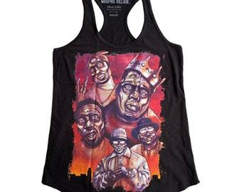 Graphic Villain Zombie hip hop legends Woman's racerback  - Free Shipping!