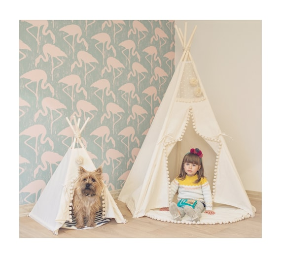 Pet tipi with poles and pad 4 pole pet tipi teepee tepee - Tipi para perros ...