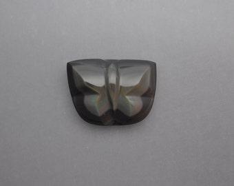 Carved Rainbow Obsidian Butterfly