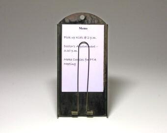 Vintage Black Metal Note Holder, Picture Holder, McCaskey Register Co. Receipt Holder - circa 1920's