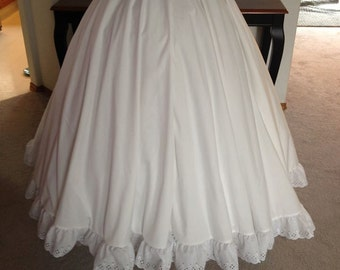 Adult Eyelet trimmed Petticoat to wear with your Princess Gown and Hoop skirt