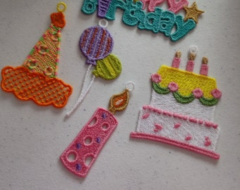 Lace Birthday hangers