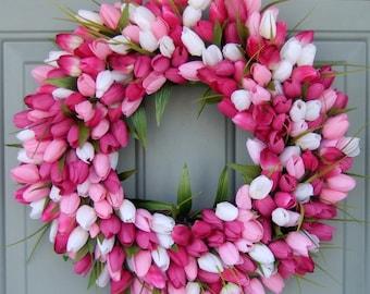Tulip Wreath - Spring Wreath - Spring Tulip Wreath