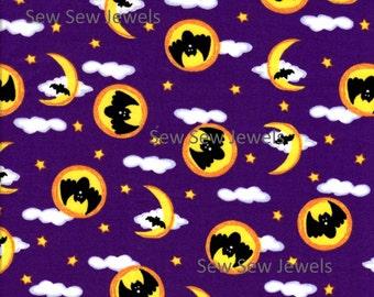 Bats And Moons Halloween Fabric