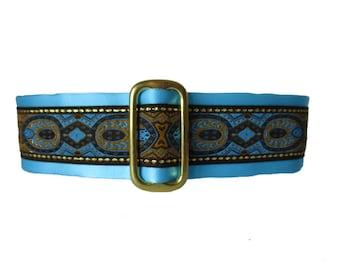 1.5 Inch Martingale Collar, Blue Martingale Collar, Christmas Martingale Collar, Blue Dog Collar, Jacquard Dog Collar, Greyhound Collar