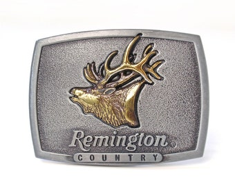 Vintage Remington Country Elk Belt Buckle