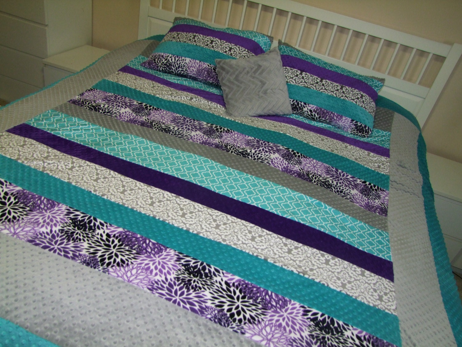 purple teal twin bedding purple double size blanket aqua. Black Bedroom Furniture Sets. Home Design Ideas