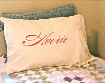 Personalized Name Pillow Case - Single Case