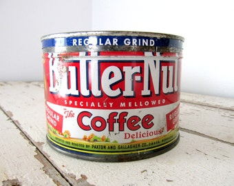 Vintage Butter-Nut Coffee Can