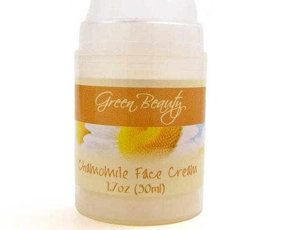 Chamomile Face Cream, 1.7oz, Natural Face Cream for Dry Skin, Day Cream for Mature Skin, Facial Cream, Hand Cream, Very Rich Night Cream