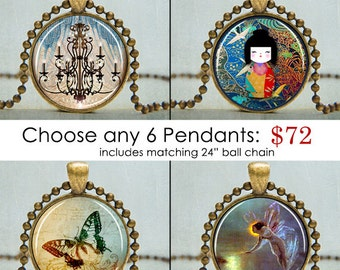 Bargain Sale Art Pendant Necklaces | Art Pendants | Necklaces on Sale | Bargain Jewelry |  Choose Any 6 Art Pendants | Gift Ideas for Her