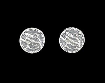 Sterling Silver Zodiac Earrings Scorpio