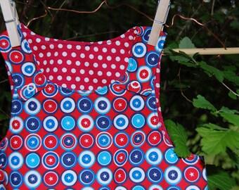 Baby 4th of July dress / 9-12M July 4th dress / patriotic baby dress / red white and blue dress / Baby July 4th