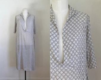 vintage 1920s silk dress -  STEP by STEP silk chiffon flapper dress / M