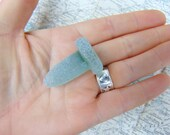Seaglass Bottle Stopper Frosted Sea Glass Mermaid's Tear Irish Sea Glass
