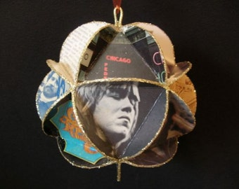 Chicago Band Album Cover Ornament Made Of Record Jackets