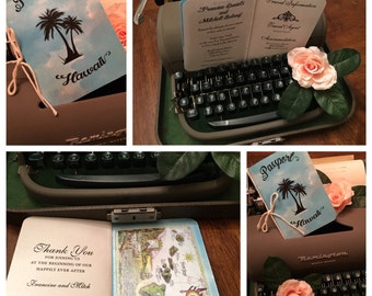 Passport to Hawaii Invitation - Passport Invitation - Tropical Island Passport -- Destination Wedding