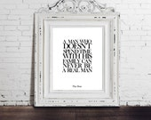 The Godfather Movie Quote, The Don, Family Man, Digital Download, Wall Art for Him, Gift for Him, Don Corleone, Art Print Decor, Instant Art