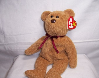 Ty Beanie Baby CURLY The Bear - Collectibles,Retired,Beanie Babies