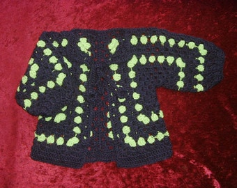 child's crocheted jacket