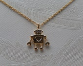 Robot Necklace, Robot Jewelry, My Little Robot, Gift for Her