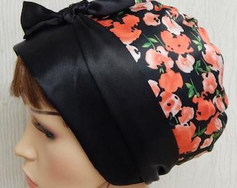 Satin head covering, sleeping bandanna, women's head wrap, head scarf, bad hair day head wear, Jewish tichel head snood